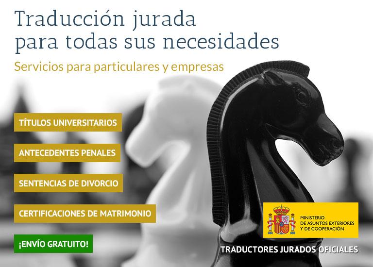 Traducción jurada para todas sus necesidades - Servicios para particulares y empresas
