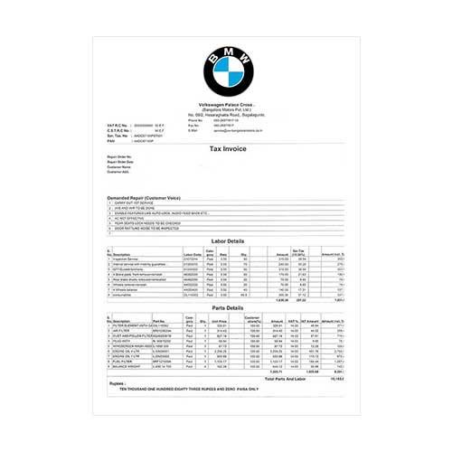 Factura Coche - BMW