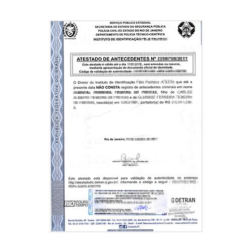Certificado de antecedentes penales Brasil
