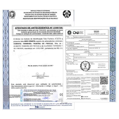 Certificado de antecedentes penales Brasil y Apostilla de la Haya