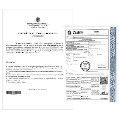 Certificado de antecedentes penales brasileño y Apostilla de la Haya