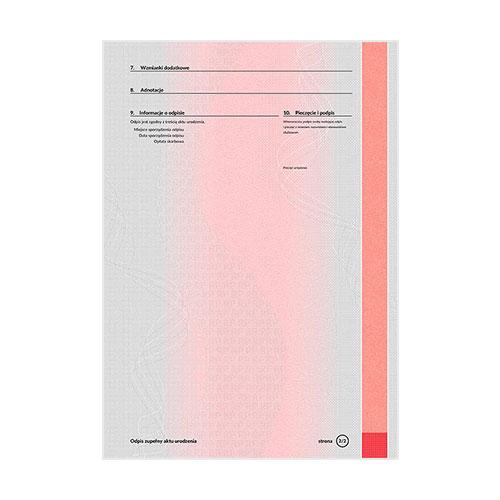 Certificado de nacimiento Polonia