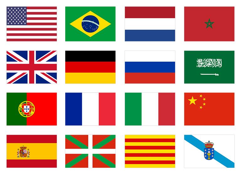 Combinaciones de idiomas de traducción jurada